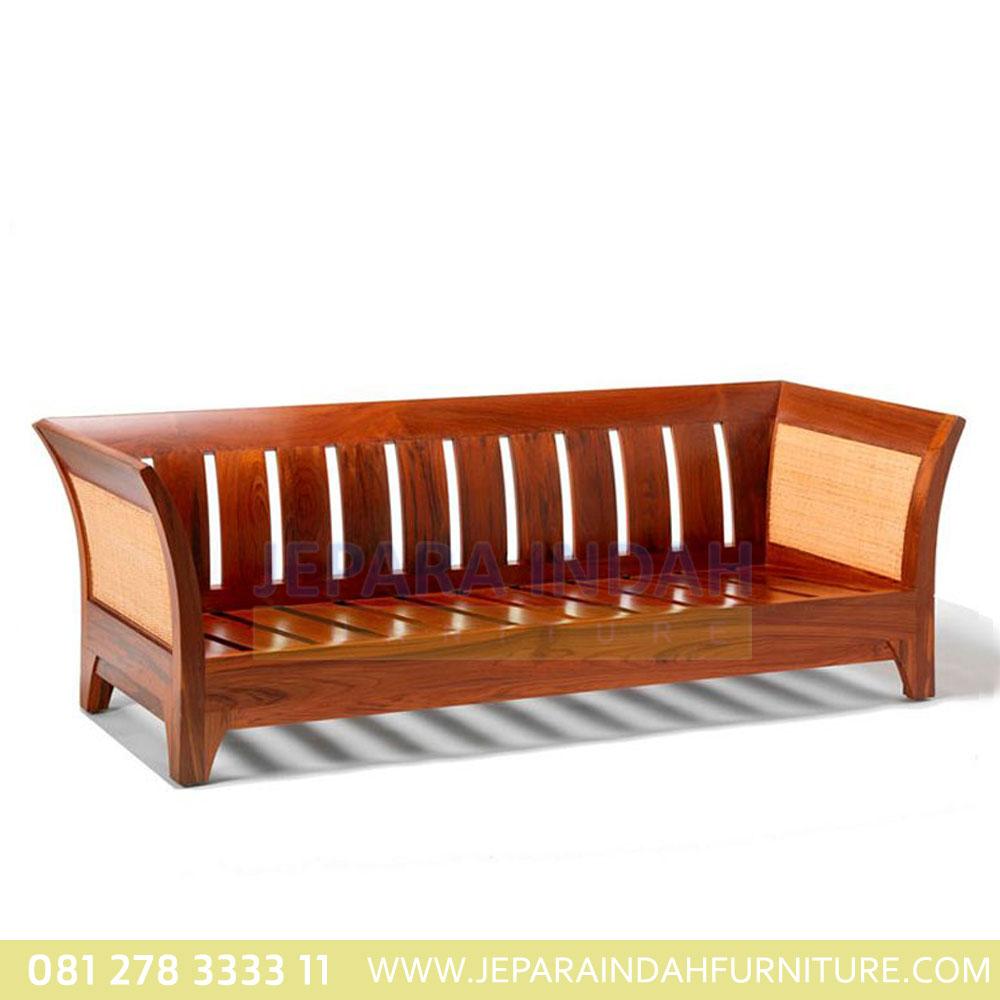 Sofa jati rotan Karmin 3s