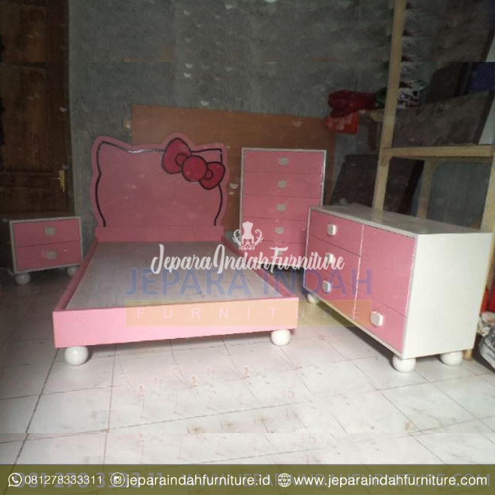 Set Tempat Tidur Anak Hello Kitty Cat Duco Pink