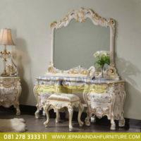 Meja Rias Jati Rococo French Style
