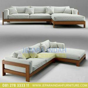 Sofa Tamu Sudut Minimalis Elegant Moderen