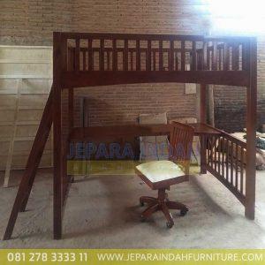 Meja Belajar Plus Tempat Tidur Tingkat Untuk Anak