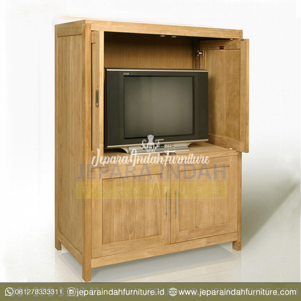 Buffet Rak TV Cabinet Kayu Jati Pintu Geser