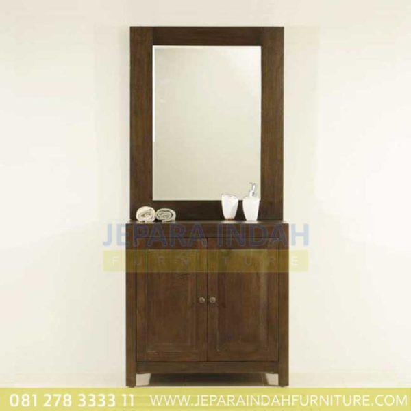 Wastafel Kayu Jati Minimalis Bathroom