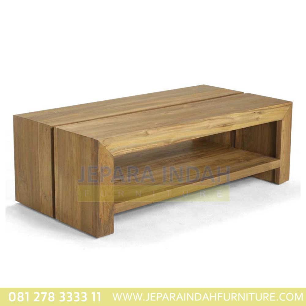 Coffee Table Minimalis Kayu Jati Jepara