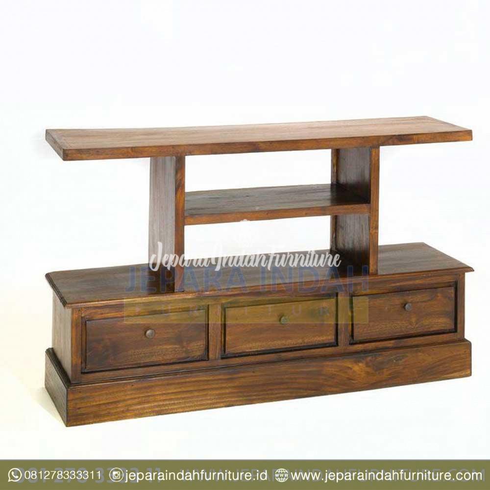 Rak TV Cabinet Jati Minimalis Model Jepang