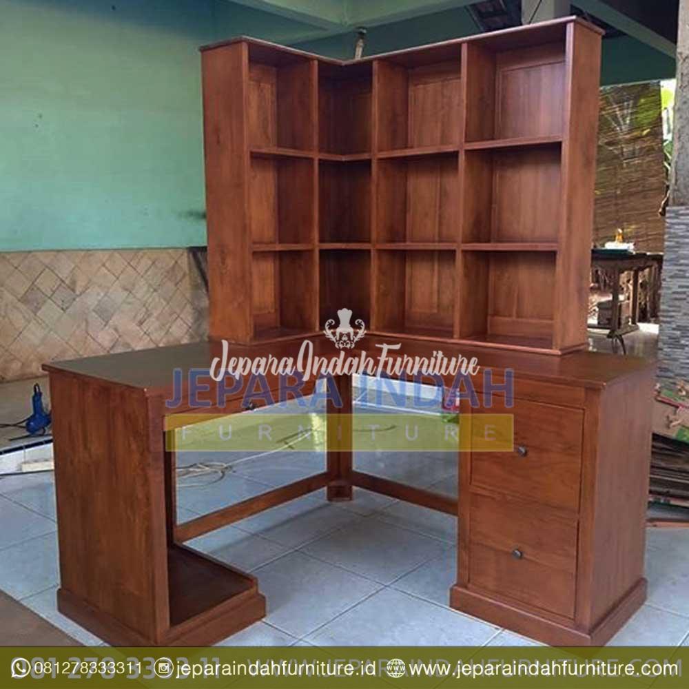 Meja Belajar Anak Model Sudut Minimalis Jati By Jepara Indah Furniture Meja belajar sudut minimalis