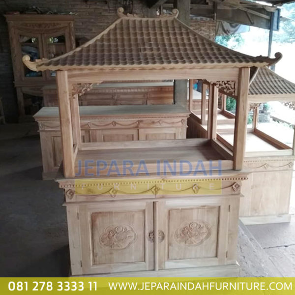 Website Jual Lemari Aquarium Jati Ukir Bunga 2 Pintu (HDF LAQ 001 2D)