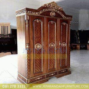 Jual-Lemari-Baju-Raja-2-Pintu-Ukiran-Kayu-Jati