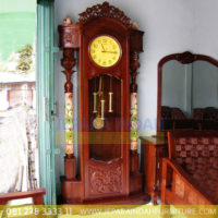 Jual-Lemari-Jam-Hias-Mawar-Ukiran-Kayu-Jati-Jepara