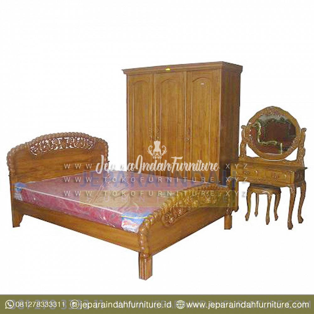 Ruang Kamar Cantik Dengan Tempat Tidur Set Anggur Ukiran