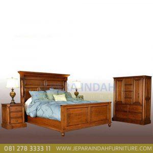 Jual Set Kamar Tidur Minimalis Hilary Kayu Jati