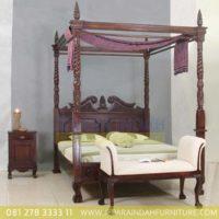 Jual Dipan Chippendale Canopy Kayu Jati