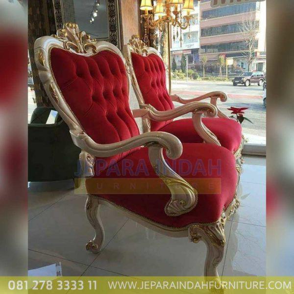 Jual Sofa Eksklusif Ukiran Mewah 1 Seater