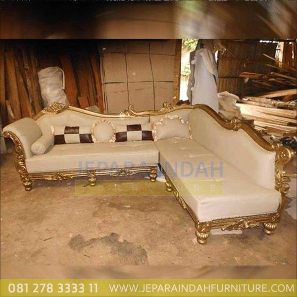Jual Sofa Sudut Mewah Ruang Tamu Ukiran Klasik