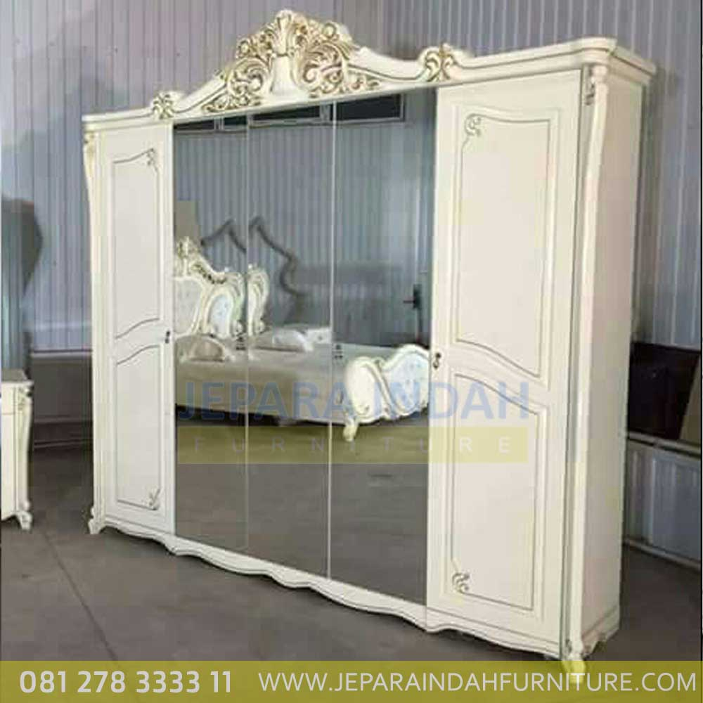 Jual Tempat Tidur Elegant Satu Set Ukiran Lemari 5 Pintu