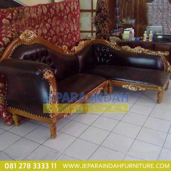 Harga Jual Sofa Ruang Sudut Ukir Jati