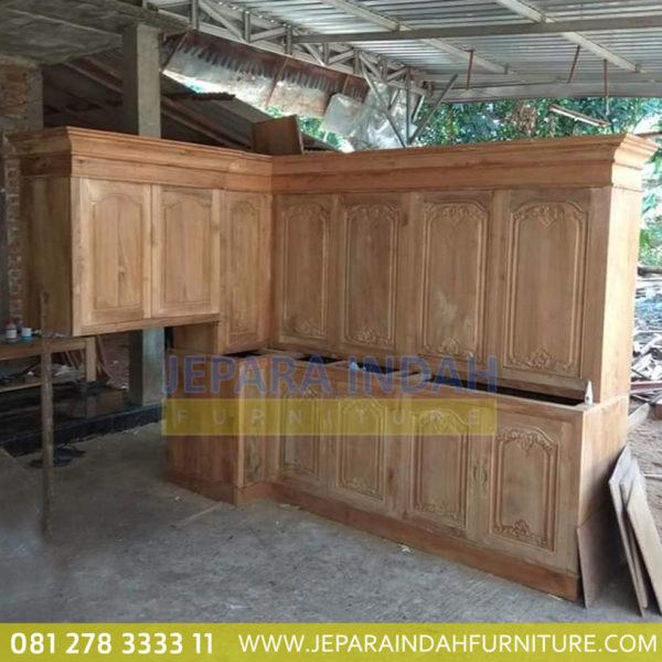 Pusat Jual Kitchen Set Jati Ukir Klasik Jepara