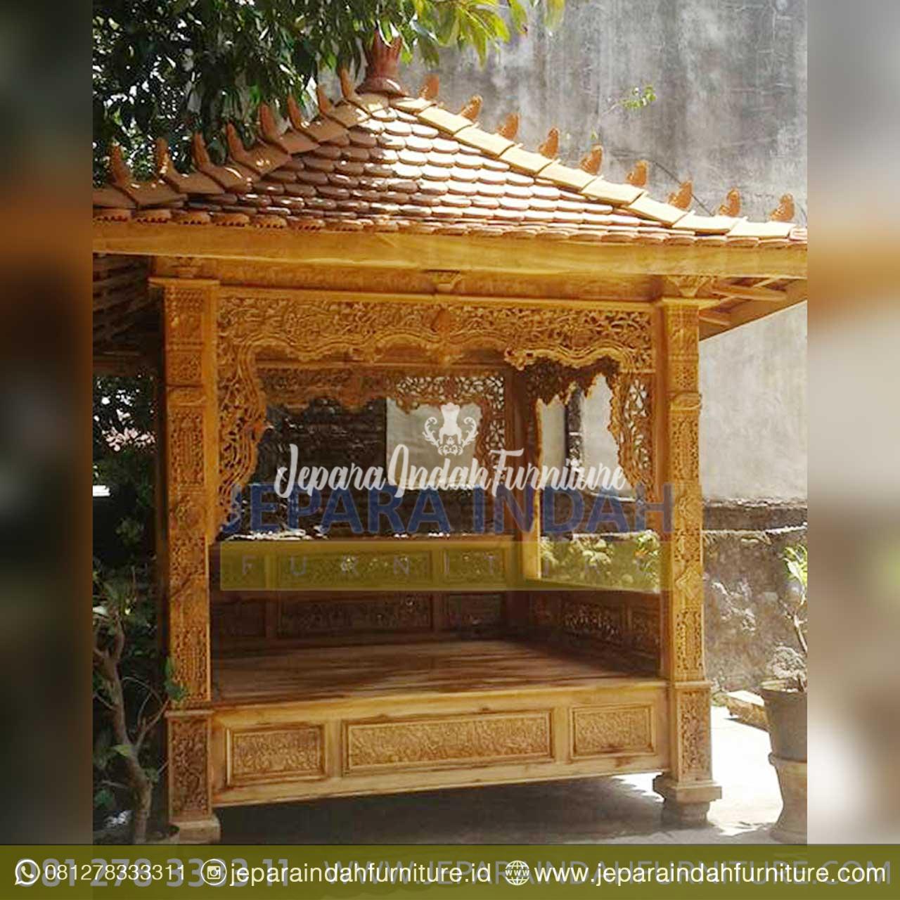 Rumah Kayu Mewah: Gazebo Kayu Jati Klasik Untuk Taman Rumah By Jepara Indah