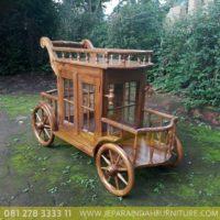 Harga Jual Meja Teh Model Trolley Ukir Jati