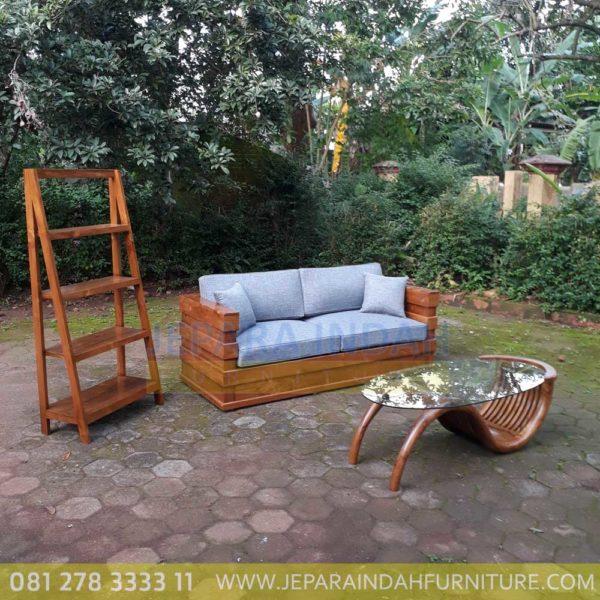 Harga Jual Sofa Jati Minimalis 2 Seater Ruang Tamu