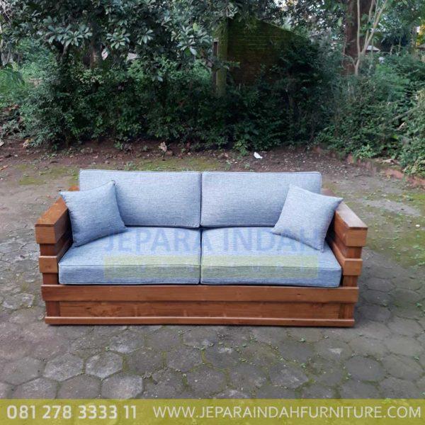Harga Jual Sofa Jati Minimalis 2 Seater Terbaru
