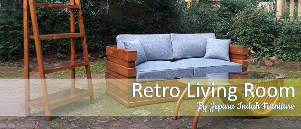 Retro Living Room Set Jati Jepara Indah Furniture