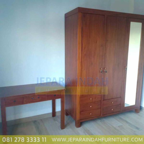 Harga Jual Set Dipan Minimalis Jati Lemari Baju