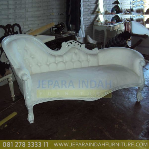 Harga Jual Sofa Living Single End Duco Putih Ukir