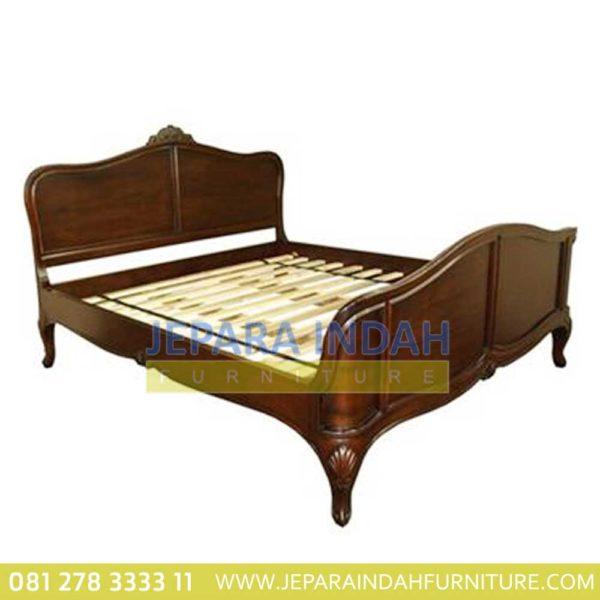 Pusat Jual Ranjang Kamar Tidur Kencana Kayu Jati (BRF DTT 005)
