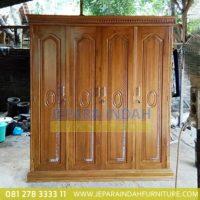 Pusat Jual Lemari Pakaian Jati Klasik 4 Pintu (BRF LMP 038)
