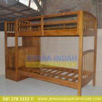 Harga Jual Tempat Tidur Tingkat Jati Minimalis (CRF TTT 014)
