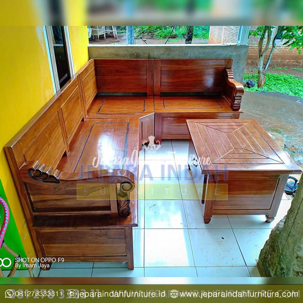 Simple Mewah Kursi Tamu Sudut Jati Minimalis By Jepara Indah Furniture Gambar kursi jati minimalis