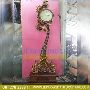Jam Hias Jati Ukiran Jepara (LRF LJH 013)