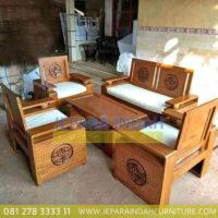 LRF SKT 033 Set Kursi Tamu Minimalis Ukir Mawar